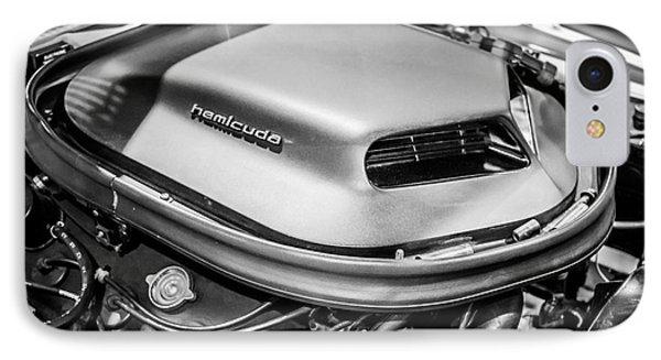 Plymouth Hemi Cuda Engine Shaker Hood Scoop IPhone Case by Paul Velgos