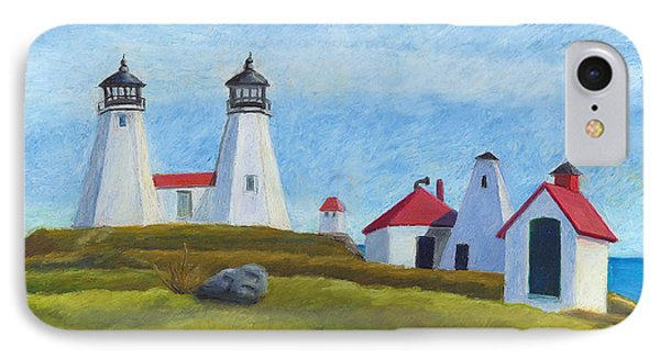 Plymouth Light Station Before 1924 IPhone Case