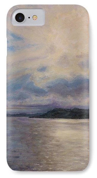 IPhone Case featuring the painting Plymouth Uk Harbor by Joe Bergholm