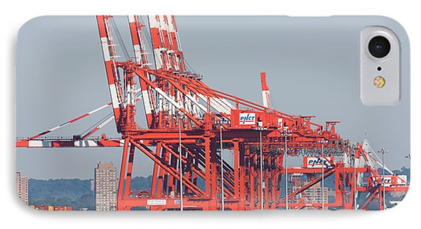 Pnct Facility In Port Newark-elizabeth Marine Terminal I Phone Case by Clarence Holmes