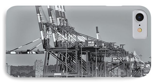 Pnct Facility In Port Newark-elizabeth Marine Terminal II Phone Case by Clarence Holmes