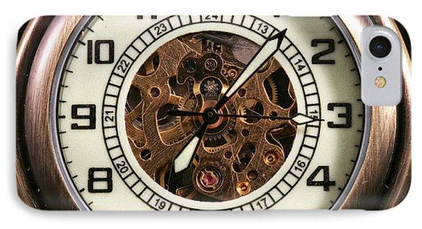 Pocket Watch Phone Case by John Rizzuto