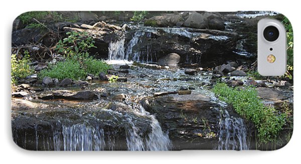 IPhone Case featuring the photograph Poconos Waterfall Stream by John Telfer