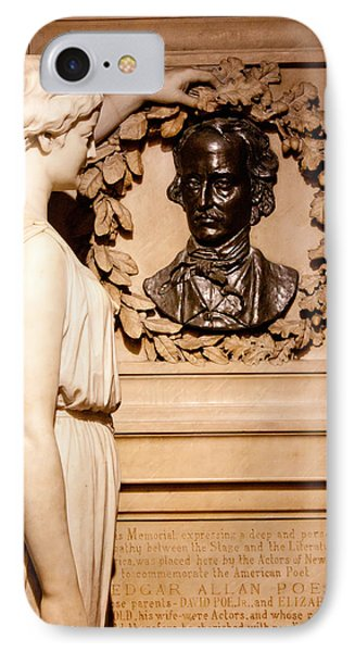 IPhone Case featuring the photograph Poe Memorial Sculpture by Jean Haynes