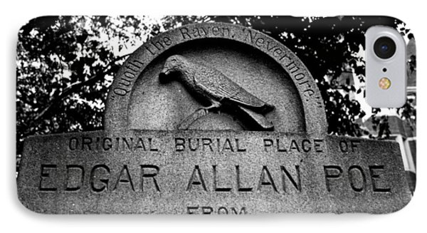 Poe's Original Burial Place IPhone Case by Jennifer Ancker