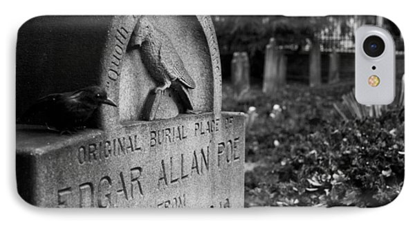 Poe's Original Grave IPhone Case by Jennifer Ancker
