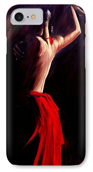 IPhone Case featuring the painting Poetry In Motion by Sheri Sharareh Chakamian