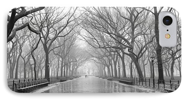 IPhone 7 Case featuring the photograph New York City - Poets Walk Central Park by Dave Beckerman