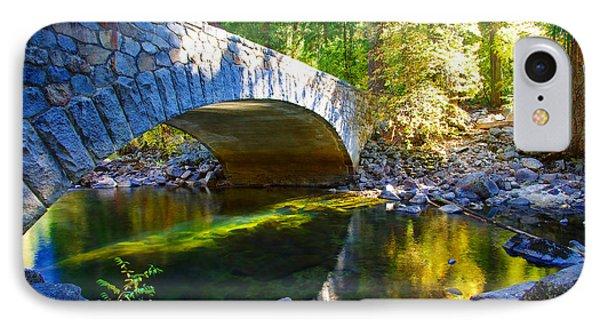 Pohono Bridge Yosemite National Park IPhone Case by Scott McGuire