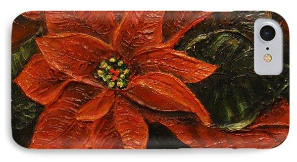 Poinsettia 2 IPhone Case by Elena  Constantinescu