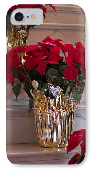 IPhone Case featuring the photograph Poinsettias by Patricia Babbitt