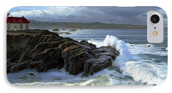 Point Cabrillo Lighthouse With Surf IPhone Case