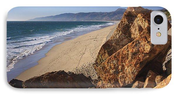Point Dume Overlooking Zuma Beach IPhone Case by Adam Romanowicz