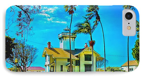 Point Fermin Lighthouse IPhone Case by Joseph Hollingsworth