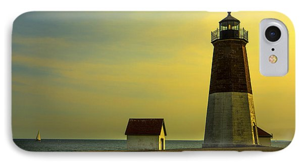 Point Judith Lighthouse Phone Case by Diane Diederich