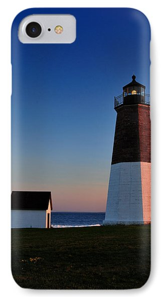 Point Judith- Sidelit At Sunset IPhone Case