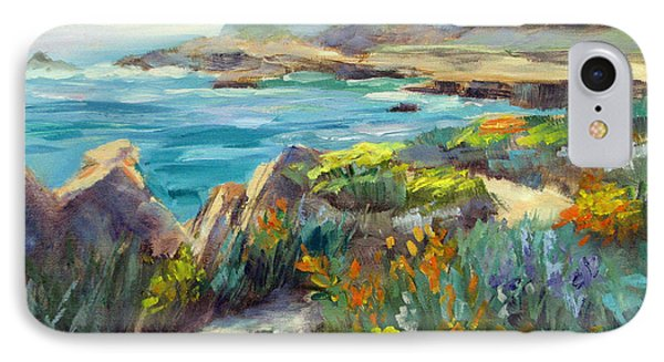 Point Lobos Wildflowers IPhone Case