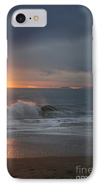 IPhone Case featuring the photograph Point Mugu 1-9-10 Sun Setting With Surf by Ian Donley