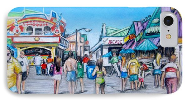 Point Pleasant Beach Boardwalk IPhone Case by Melinda Saminski