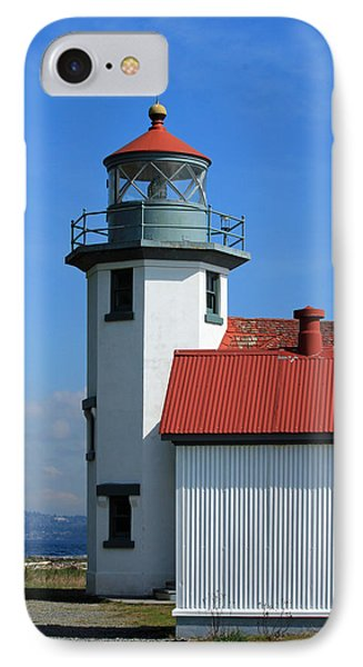 IPhone Case featuring the photograph Point Robinson Light House by E Faithe Lester