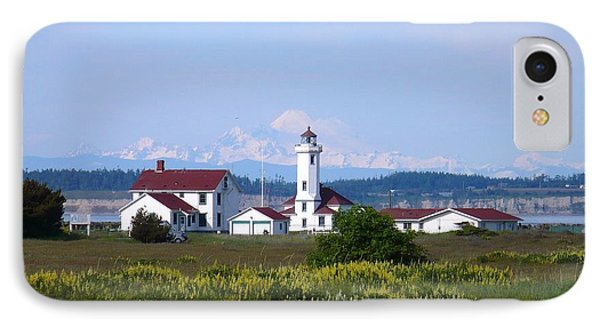 Point Wilson Light IPhone Case by Gayle Swigart
