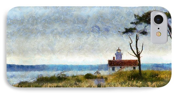 Point Wilson Lighthouse IPhone Case by Kaylee Mason
