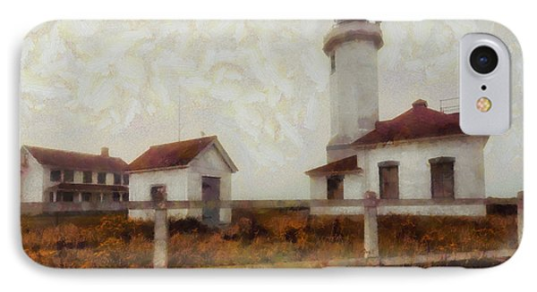 Point Wilson Lighthouse IPhone Case by Mark Kiver
