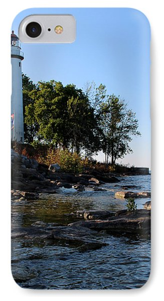 Pointe Aux Barques Lighthouse 1 IPhone Case by George Jones
