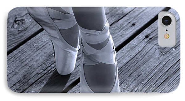 Pointe Shoes Bw IPhone Case by Laura Fasulo