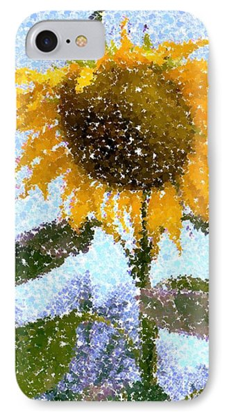 Pointillist Sunflower In Sun City IPhone Case