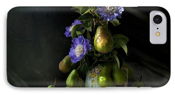 Poires Et Fleurs Phone Case by Theresa Tahara