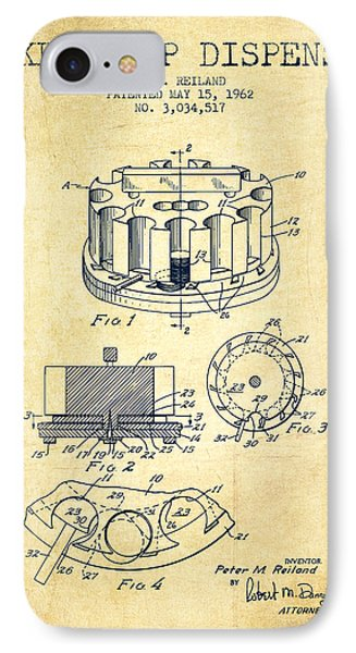 Poker Chip Dispenser Patent From 1962 - Vintage IPhone Case by Aged Pixel
