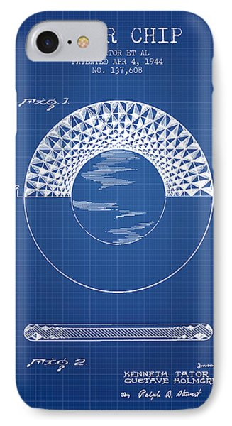 Poker Chip Patent From 1944 - Blueprint IPhone Case by Aged Pixel