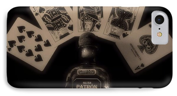 Poker Hand And Tequila IPhone Case by Dan Sproul