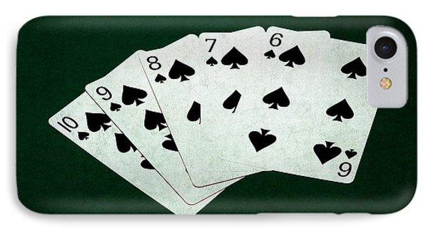 Poker Hands - Straight Flush 1 IPhone Case