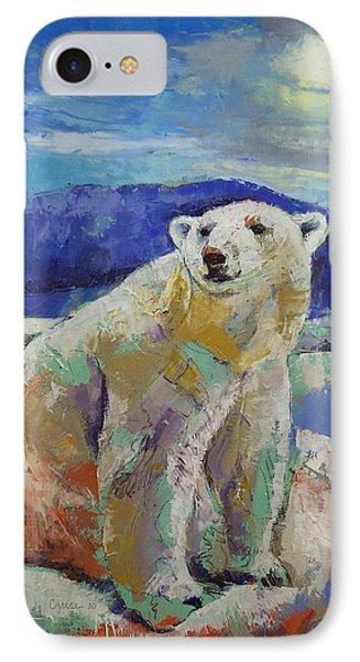 Polar Bear Sun IPhone Case by Michael Creese