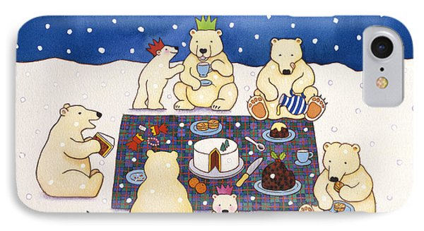 Polar Bear Picnic IPhone Case by Cathy Baxter