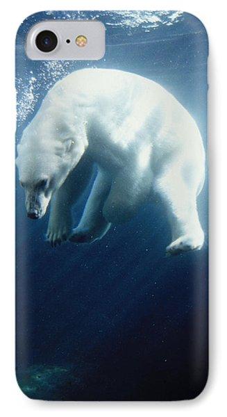 Polar Bear Swimming Underwater Alaska IPhone Case by Steven Kazlowski