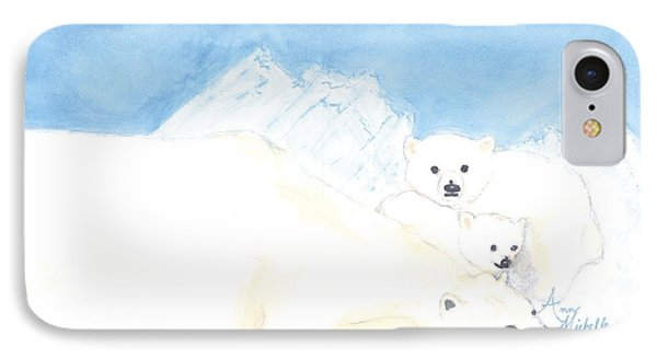 Polar Bears IPhone Case by Ann Michelle Swadener