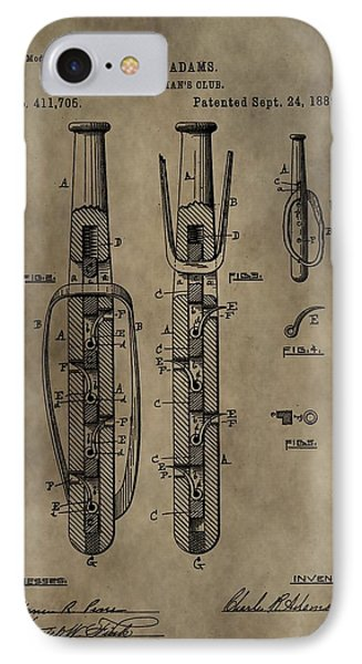 Police Baton Patent IPhone Case by Dan Sproul