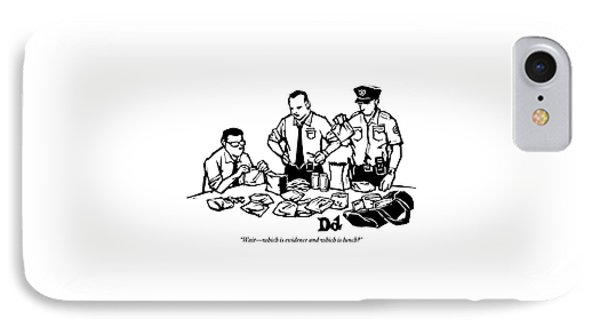 Police Detectives Search Through A Table IPhone Case