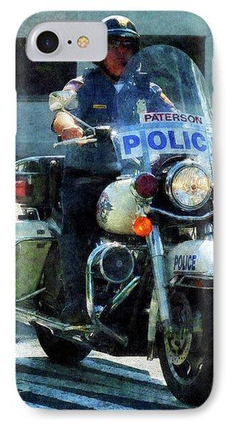 Police - Motorcycle Cop Phone Case by Susan Savad