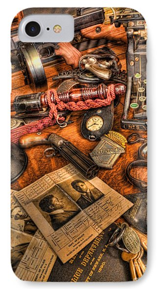 Police Officer- The Detective's Desk II IPhone Case by Lee Dos Santos