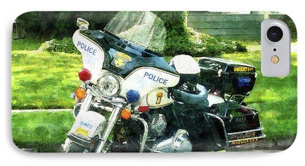 Police - Police Motorcycle Phone Case by Susan Savad