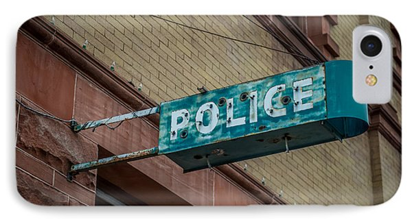 Police Station Sign IPhone Case