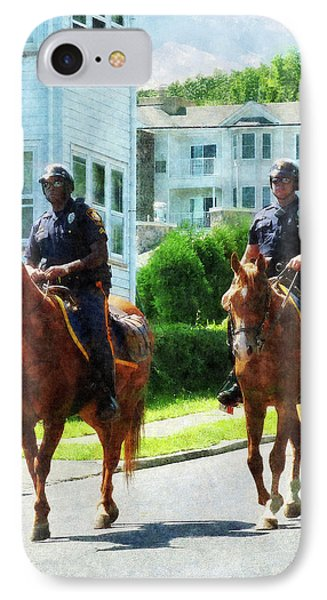 Police - Two Mounted Police Phone Case by Susan Savad