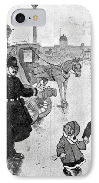 Policeman Cartoon, 1904 IPhone Case by Granger