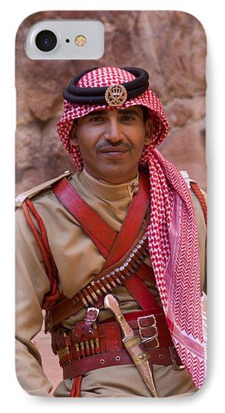 Policeman In Petra Jordan IPhone Case