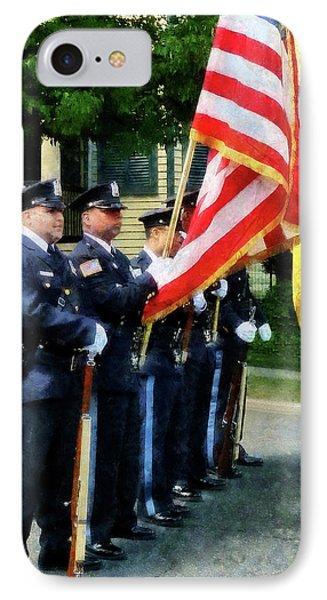 Policeman - Police Color Guard Phone Case by Susan Savad