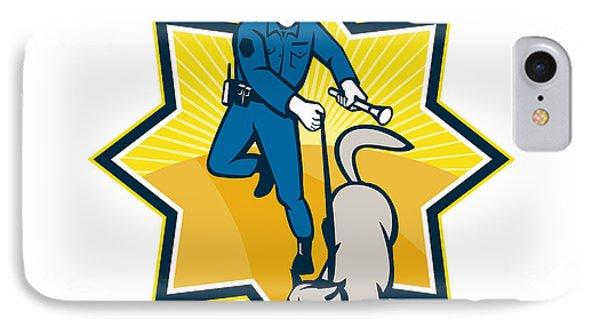 Policeman Police Dog Canine Team Phone Case by Aloysius Patrimonio